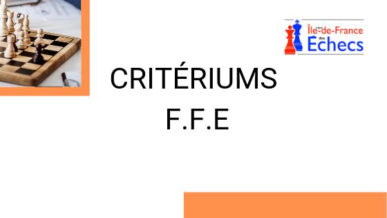 Critériums FFE